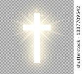 shining gold cross isolated on... | Shutterstock .eps vector #1337709542