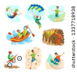 extreme sports vector ... | Shutterstock .eps vector #1337718938
