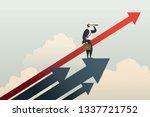 businessman standing searching... | Shutterstock .eps vector #1337721752