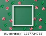 paper art of illustration... | Shutterstock .eps vector #1337724788