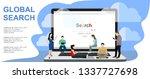 online search bar concept... | Shutterstock .eps vector #1337727698