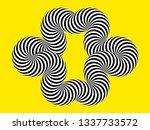 infinity symbol of interlaced... | Shutterstock .eps vector #1337733572