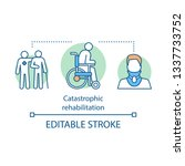 catastrophic rehabilitation... | Shutterstock .eps vector #1337733752