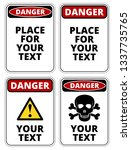 danger  sign template with a4... | Shutterstock .eps vector #1337735765