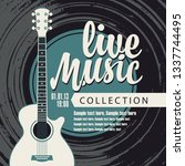 vector poster for a live music... | Shutterstock .eps vector #1337744495
