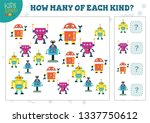 how many of each kind cartoon... | Shutterstock .eps vector #1337750612