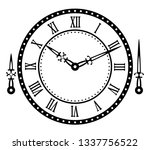 vintage watch dial with arrows. ... | Shutterstock .eps vector #1337756522