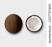 vector 3d realistic whole and... | Shutterstock .eps vector #1337757602
