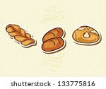 bakery icons on beige... | Shutterstock .eps vector #133775816