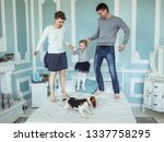 concept of family happiness ...   Shutterstock . vector #1337758295