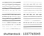 lines hand drawn vector set... | Shutterstock .eps vector #1337765045
