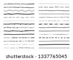 lines hand drawn vector set... | Shutterstock .eps vector #1337765045