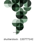 abstract circle geometrical... | Shutterstock .eps vector #133777142