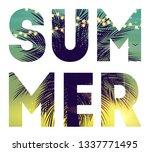 summer night beach poster.... | Shutterstock .eps vector #1337771495