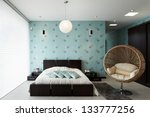 interior design  bedroom | Shutterstock . vector #133777256