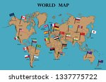 map of world and world...   Shutterstock .eps vector #1337775722
