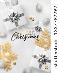 christmas background. holiday... | Shutterstock . vector #1337782292