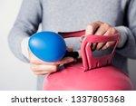closeup of a caucasian man ... | Shutterstock . vector #1337805368