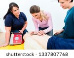 female attendees of first aid... | Shutterstock . vector #1337807768