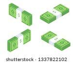 stack of cash dollar bills....   Shutterstock .eps vector #1337822102