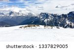 panoramic view of dolomites... | Shutterstock . vector #1337829005