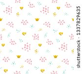 cute grunge seamless pattern.... | Shutterstock .eps vector #1337829635