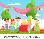 vector illustration of kids... | Shutterstock .eps vector #1337838032