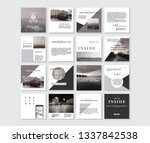 set of square stylish  trendy... | Shutterstock .eps vector #1337842538