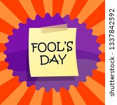 april fools day text. colorful... | Shutterstock .eps vector #1337842592