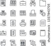 thin line icon set   identity... | Shutterstock .eps vector #1337843705