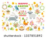 set of easter characters and... | Shutterstock .eps vector #1337851892