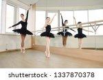 ballet dancer training little... | Shutterstock . vector #1337870378