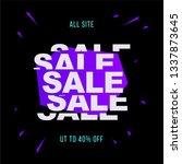sale banner template vector... | Shutterstock .eps vector #1337873645