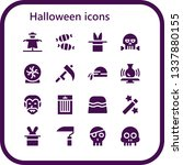 halloween icon set. 16 filled... | Shutterstock .eps vector #1337880155