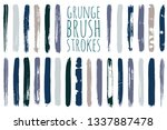 paint lines grunge collection.... | Shutterstock .eps vector #1337887478