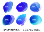 abstract blur shapes blue color ... | Shutterstock .eps vector #1337894588