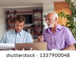 image of two businessmen... | Shutterstock . vector #1337900048
