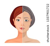 aging skin. vector illustration.... | Shutterstock .eps vector #1337901722