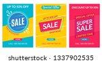 sale banner template. discount... | Shutterstock .eps vector #1337902535
