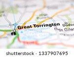Great Torrington. United Kingdom on a geography map
