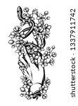 vector illustration  snake on...   Shutterstock .eps vector #1337911742