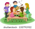 illustration of people having a ... | Shutterstock .eps vector #133791932