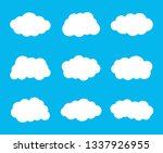 simple clouds set. vector... | Shutterstock .eps vector #1337926955