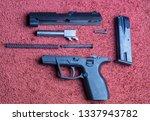 czech disassembled plastic gun...   Shutterstock . vector #1337943782