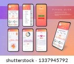 different ui  ux  gui screens... | Shutterstock .eps vector #1337945792