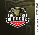 trophy vector mascot logo... | Shutterstock .eps vector #1337952842