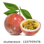 passion fruit isolated on a... | Shutterstock . vector #1337959478