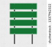 green traffic sign road board... | Shutterstock .eps vector #1337962322