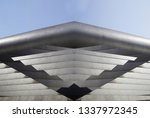 angular structure of metal lath ... | Shutterstock . vector #1337972345