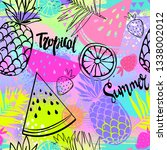 fashion tropics funny... | Shutterstock .eps vector #1338002012